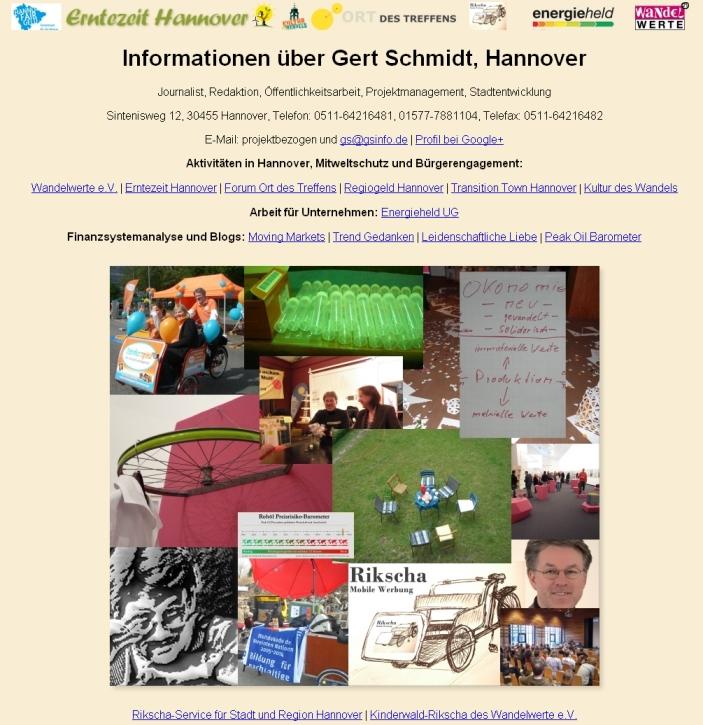 gsinfo.de, Layout von 2011 - 2014, Screenshot