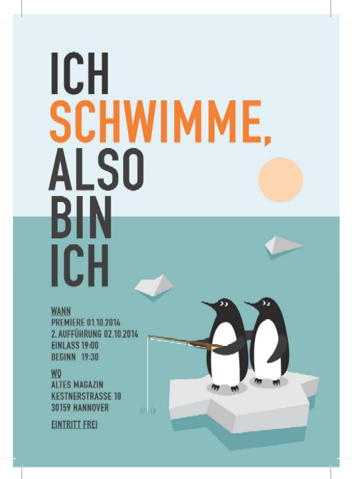 Pinguine auf Eisscholle, Illustration